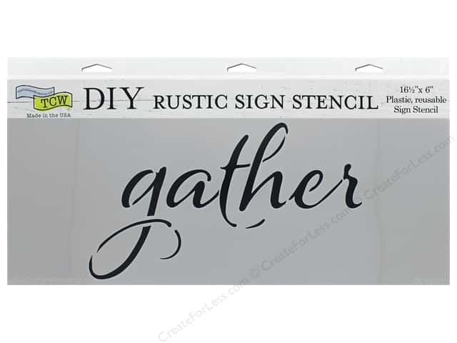 The Crafter's Workshop Stencil 16.5 in. x 6 in. Gather