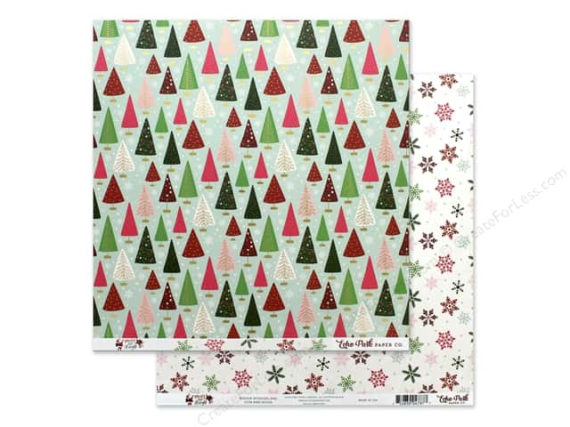 Echo Park Collection Merry & Bright Paper 12 in. x 12 in. Winter Wonderland