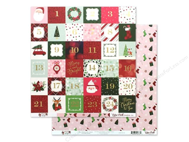 Echo Park Collection Merry & Bright Paper 12 in. x 12 in. Journaling Cards 2 in. x 2 in.