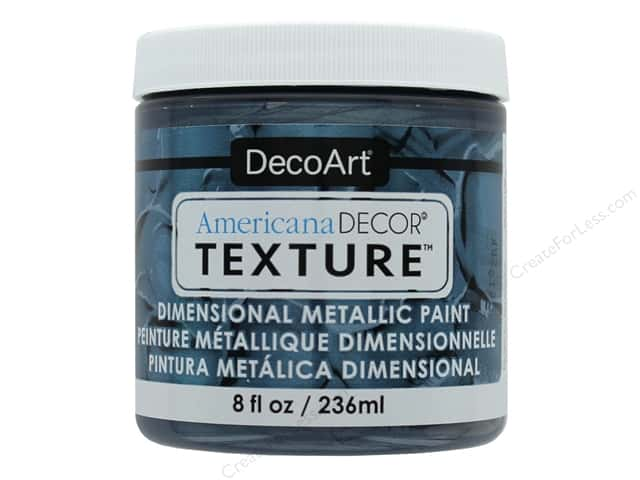 DecoArt Americana Decor Texture Metallics 8 oz Pewter