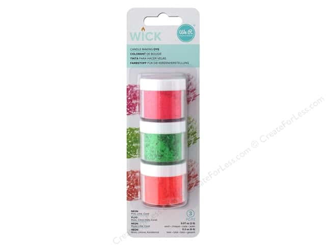 We R Memory Keepers Wick Candle Dye 3 pc. Neon