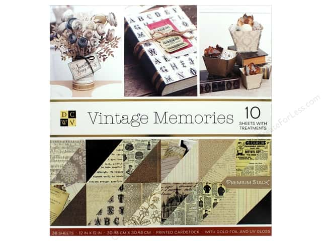 Die Cuts with a View 12 x 12 in. Paper Stack Vintage Memories