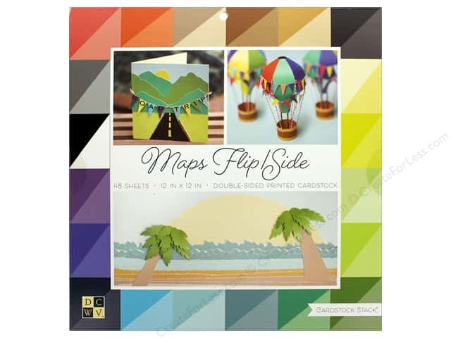 Die Cuts with a View 12 x 12 in. Cardstock Stack Maps Flip/Side