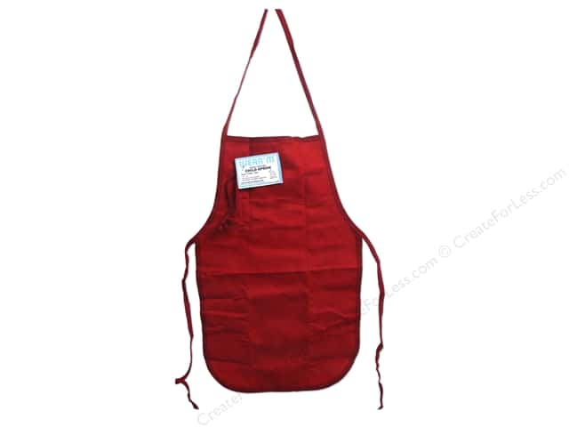 Mark Richards  Canvas Child Apron 12 x 19 in. Red