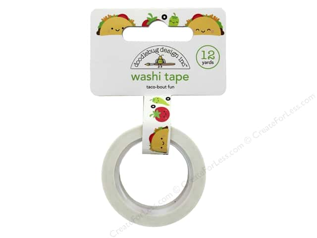 Doodlebug Collection So Much Pun Washi Tape Taco-Bout Fun