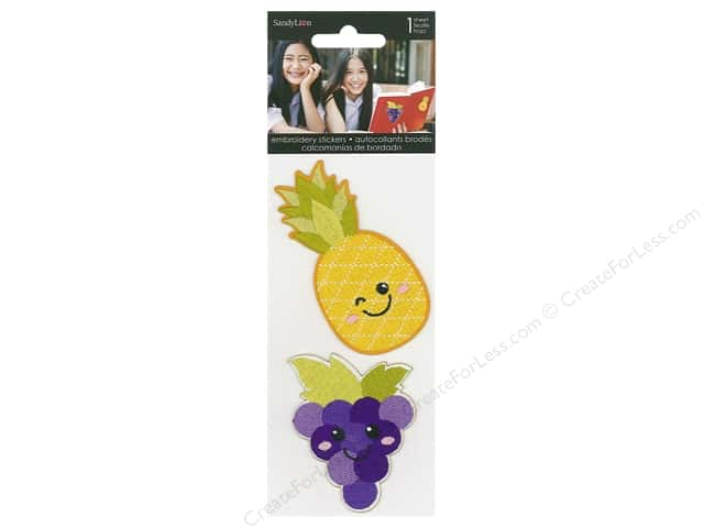 SandyLion Sticker Embroidered Pineapple & Grapes