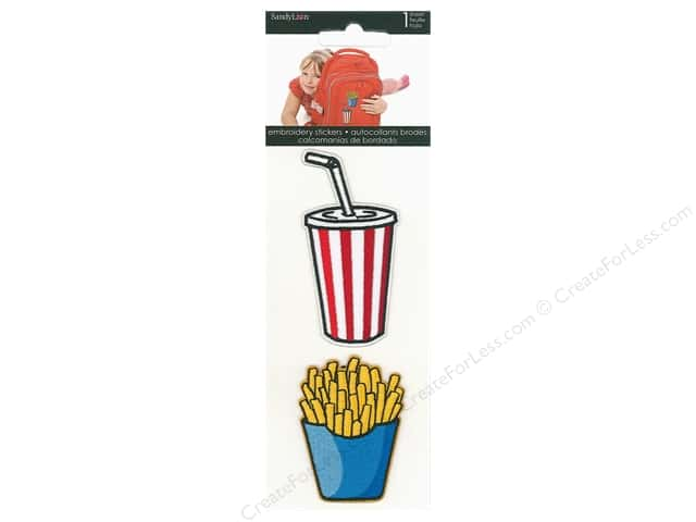 SandyLion Sticker Embroidered Fries & Drink