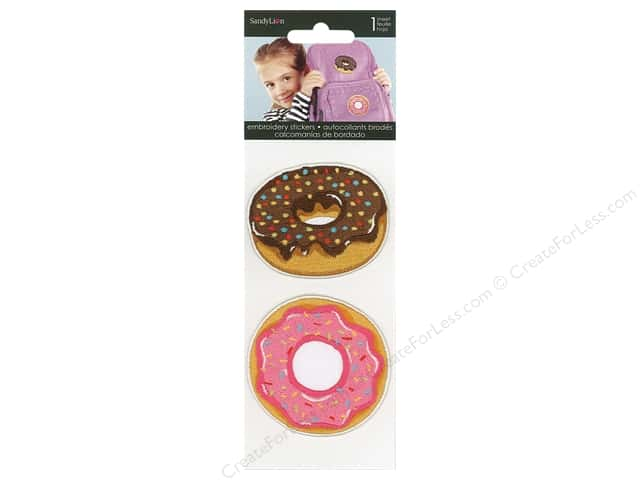 SandyLion Sticker Embroidered Donuts