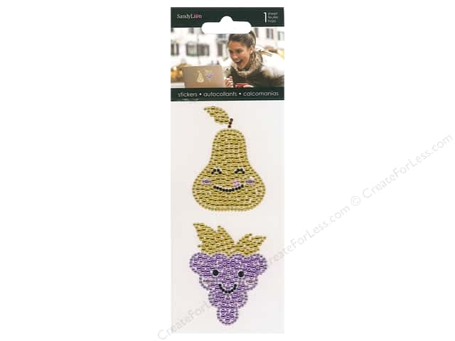 SandyLion Sticker Rhinestone Grape & Pear