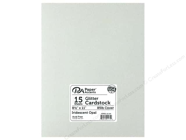 Paper Accents Glitter Cardstock 8 1/2 x 11 in. Iridescent Opal 15 pc.