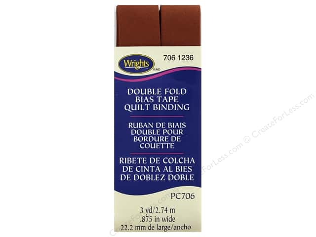 Wrights Double Fold Quilt Binding - Bark 3 yd.