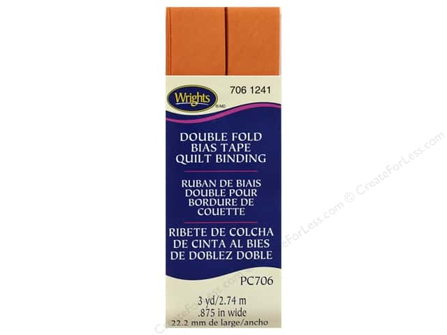 Wrights Double Fold Quilt Binding - Carrot 3 yd.