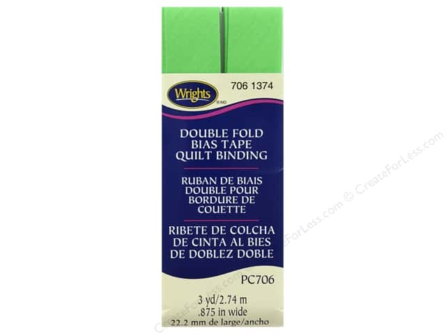Wrights Double Fold Quilt Binding - Green Glow 3 yd.