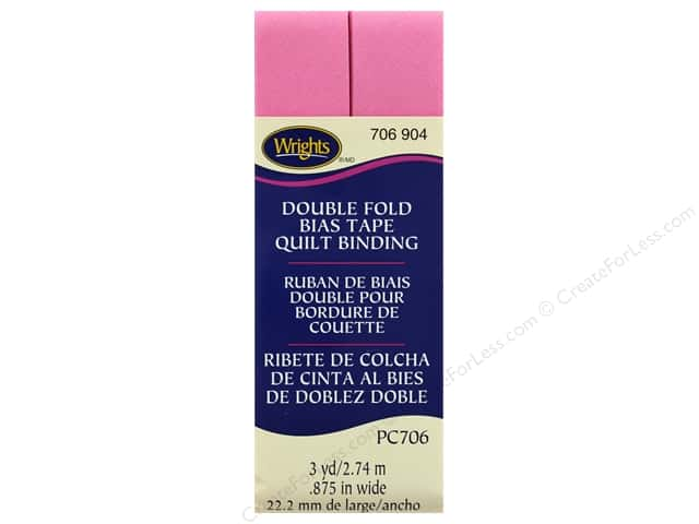 Wrights Double Fold Quilt Binding - Hot Pink 3 yd.