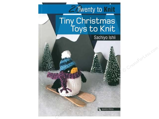 Search Press 20 To Knit Tiny Christmas Toys Book