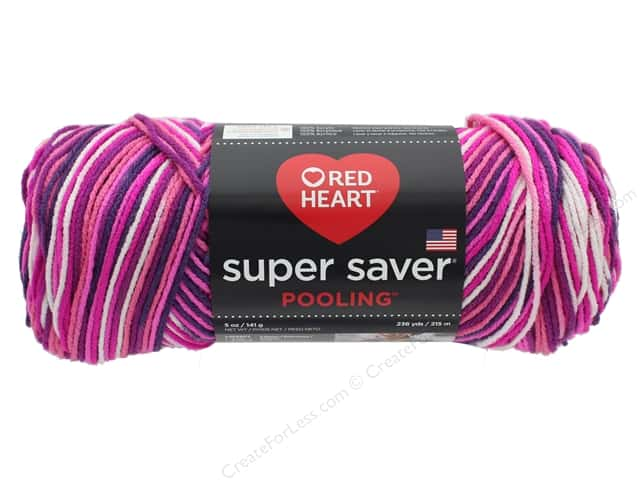 Coats & Clark Red Heart Super Saver Yarn 4 ply 5 oz Pooling Berry