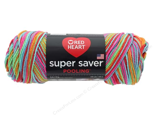 Coats & Clark Red Heart Super Saver Yarn 4 ply 5 oz Pooling Papaya