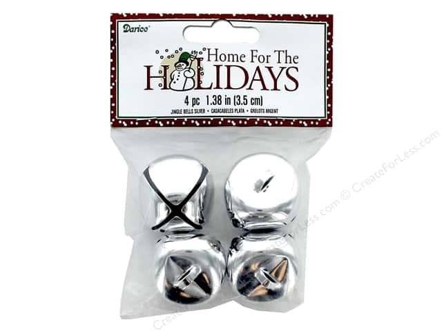 Darice Bells Jingle 35 mm Silver 4 pc