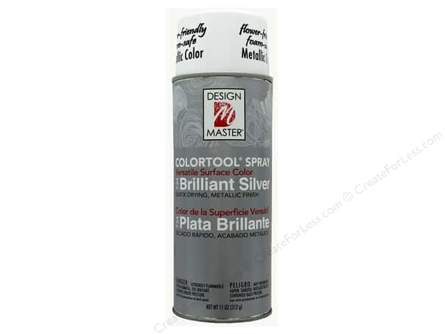 Design Master Colortool Spray Paint #734 Brilliant Silver 11 oz.