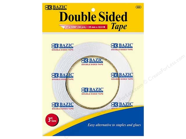 Bazic Basics Double Sided Tape 1 in. x 1296 in.