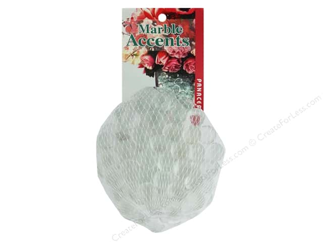 Panacea Decorative Accents Glass Marbles Clear 100 pc