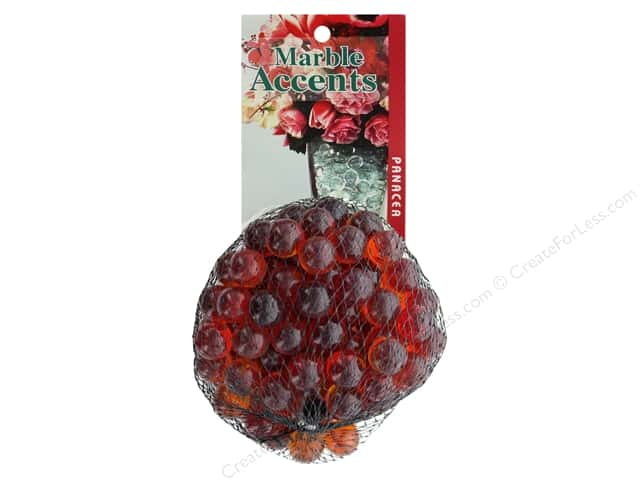 Panacea Decorative Accents Glass Marbles Red 100 pc