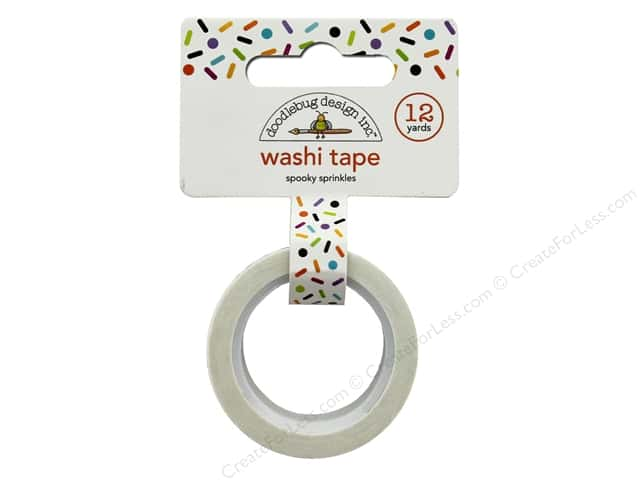 Doodlebug Collection Pumpkin Party Washi Tape Spooky Sprinkles