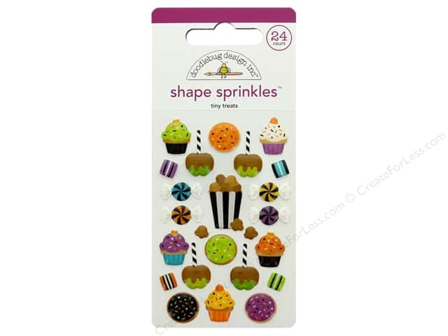 Doodlebug Collection Pumpkin Party Sprinkles Shape Tiny Treats