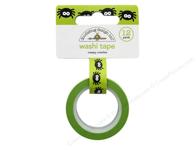 Doodlebug Collection Pumpkin Party Washi Tape Creepy Crawlies