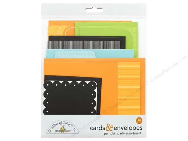 Doodlebug Collection Pumpkin Party Card & Envelope Kit
