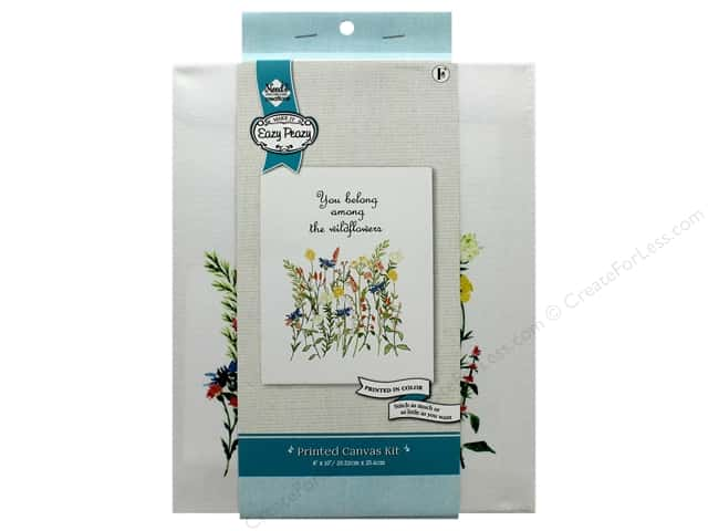 """Needle Creations Kit Embroidery Canvas 8""""x 10"""" Wildflower"""