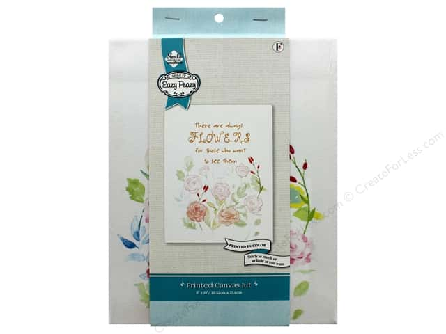 """Needle Creations Kit Embroidery Canvas 8""""x 10"""" Flowers"""
