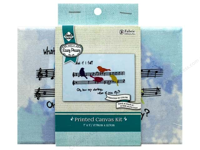 """Needle Creations Kit Embroidery Canvas 5""""x 7"""" What If"""