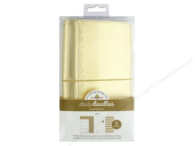 Doodlebug Collection Daily Doodles Travel Planner Gold