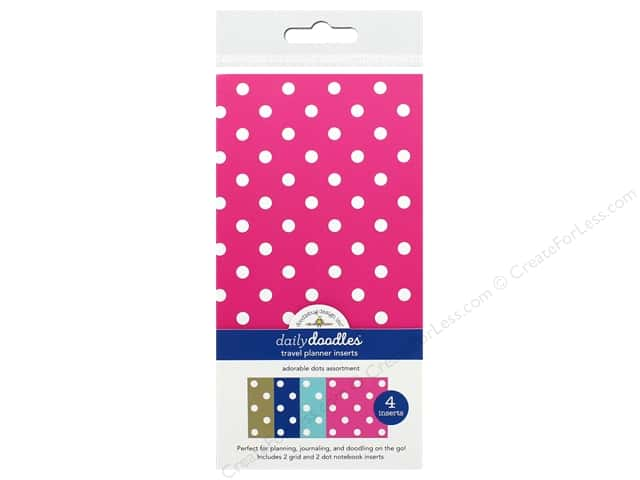 Doodlebug Collection Hello Travel Planner Inserts Assortment Dots