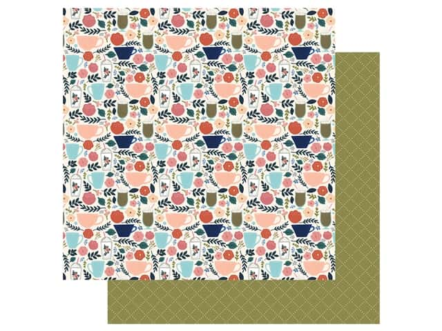 Echo Park Collection Coffee Paper 12 in. x 12 in. Coffee Cups