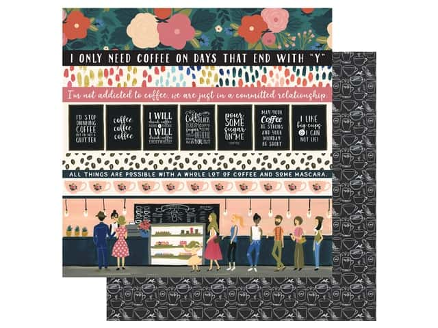 Echo Park Collection Coffee Paper 12 in. x 12 in. Border Strips