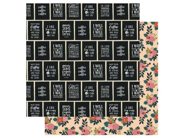 Echo Park Collection Coffee Paper 12 in. x 12 in. I Like Big Cups