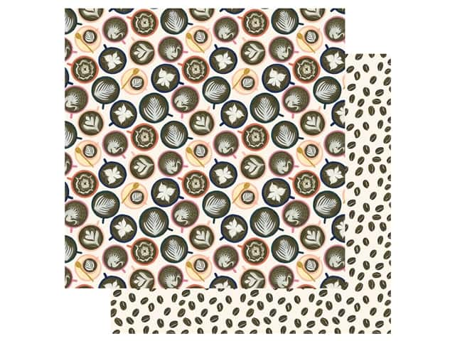 Echo Park Collection Coffee Paper 12 in. x 12 in. Cappuccino Cups