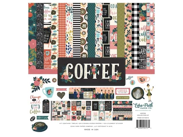 Echo Park Collection Coffee Collection Kit 12 in. x 12 in.