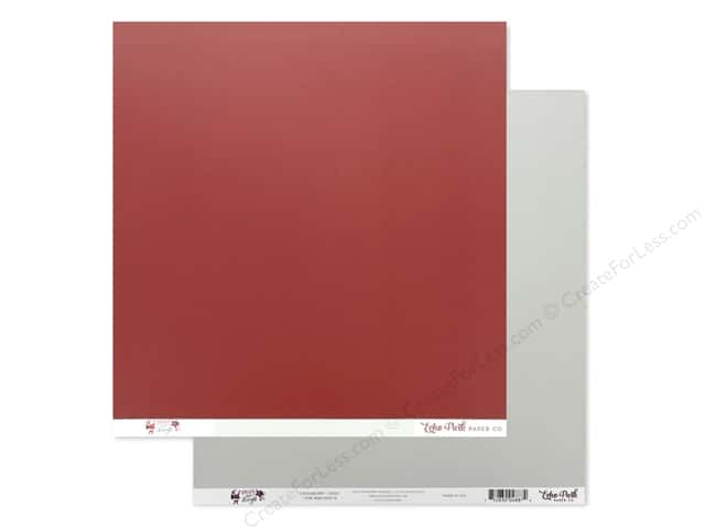 Echo Park Collection Merry & Bright Paper 12 in. x 12 in. Cranberry/Mint