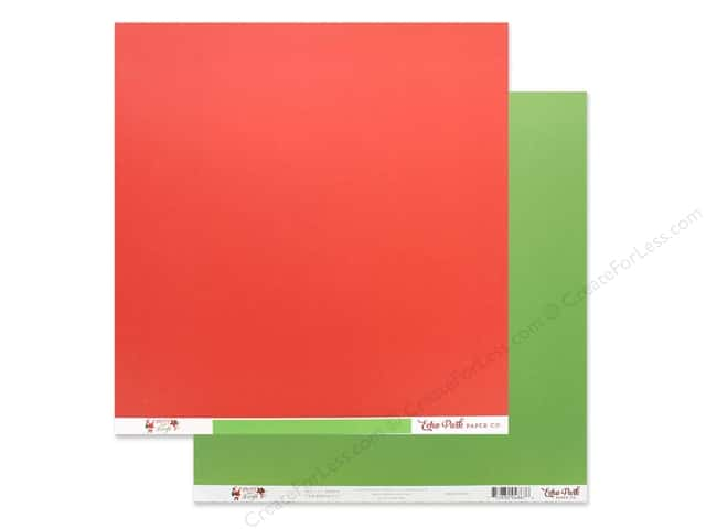 Echo Park Collection Merry & Bright Paper 12 in. x 12 in. Red/Light Green