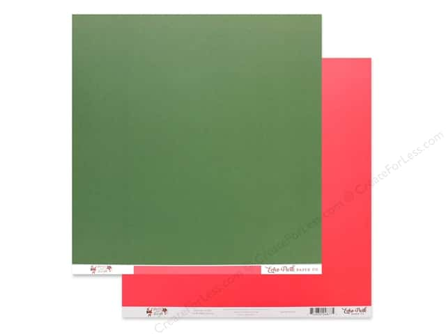 Echo Park Collection Merry & Bright Paper 12 in. x 12 in. Green/Pink