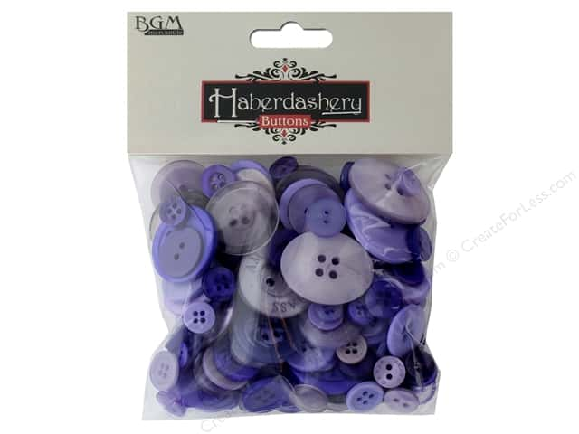 Buttons Galore Haberdashery Buttons Classic Purples