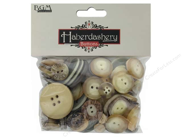 Buttons Galore Haberdashery Buttons Classic Natural