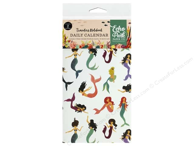 Echo Park Collection Mermaid Tales Travelers Notebook Inset Calendar