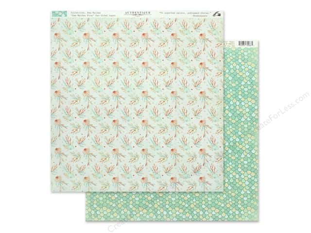 Authentique Collection Sea Maiden Paper 12 in. x 12 in. Five