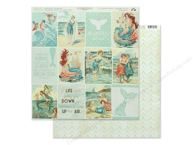 Authentique Collection Sea Maiden Paper 12 in. x 12 in. Eight