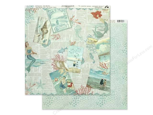 Authentique Collection Sea Maiden Paper 12 in. x 12 in. One