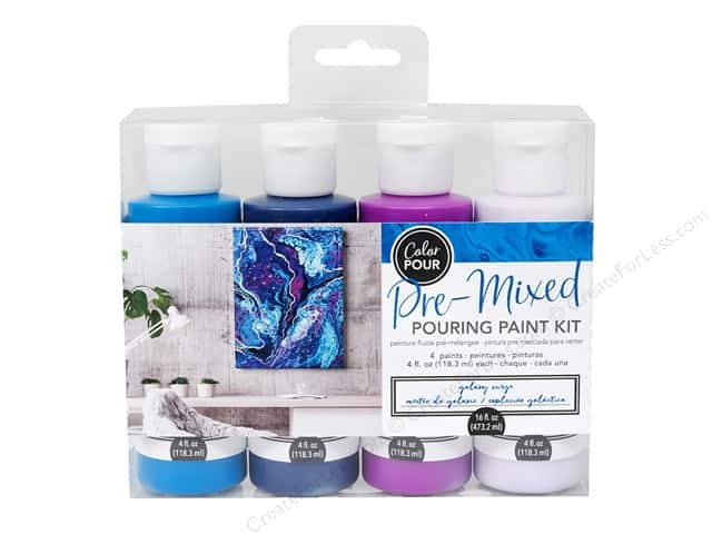 American Crafts Color Pour Pre Mixed Pouring Paint Kit - Galaxy Surge